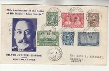 Canada Silver Jubilee Registered First Day Cover