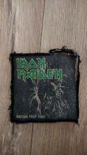 Iron Maiden S/T British Tour 1980 Original Vintage Patch NWOBHM Heavy Metal