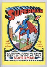 SUPERMAN #1 Masterpiece Edition Reprint VF 1999 DC Comics Chronicle Books