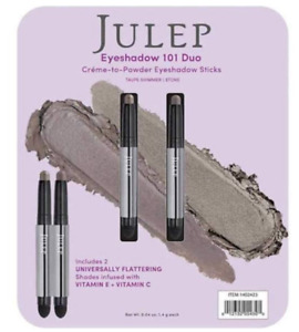 Julep Creme to Powder Eyeshadow 101 Stick Duo 2 Pack - Taupe Shimmer/Stone