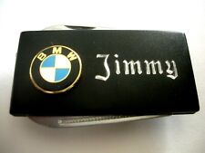 with knife & Naifile -Free Engraving Personalized Black Matte Bmw Money Clip
