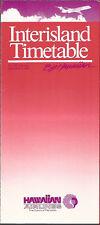 Hawaiian Air Interisland timetable 9/6/89 [6061] (buy 4+ save 50%)