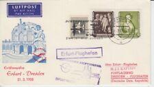 DDR Erstflug Erfurt - Dresda 1958