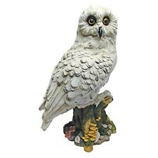 Wizard Mail Carrier Owl Post Hedwig Magical White Owl Tree Stump Perch Statue