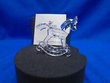 Swarovski Crystal Rocking Horse 183270. Retired 2004. MIB+COA