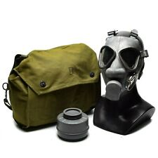 Finnish army military gas mask protection surplus mask respirator w bag filter