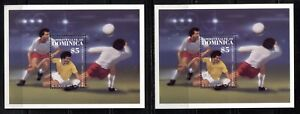 DOMINICA 1986, SOCCER  WORLD CUP, Scott 939 and 978 (WINNERS), MNH