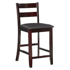 Counter Height Bar Stool Dining Bistro Chair Padded Seat Kitchen Wood Furniture