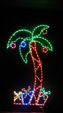 Tall Palm Tree Christmas Tree Outdoor LED Lighted Decoration Steel Wireframe