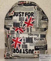 Sac à Dos Drapeau Union Jack Londres Journaux Adulte Ecole Lycéen Etudiant !