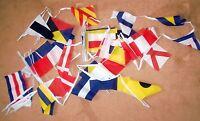 NAUTICAL BUNTING 42 FEET 40 international signals BOATS SHIPS NAVY FLAG FLAGS