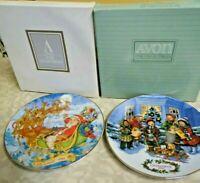 2  Avon Christmas plates 1991-1993 IOB