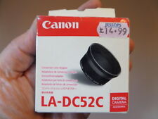 Genuine Canon LA-DC52C Conversion Lens Adapter - New In Box