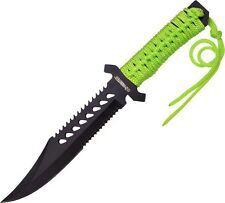 Z-Hunter ZB103 Fixed Blade Green Cord Knife Stainless Full Tang 11.75""