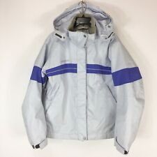 Descente DNA Jacket Women s Size 10 Ski Snowboarding Purple Stripe Hood  Vented 388144dec