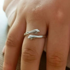 925 Sterling Silver Hug Couple Ring Opening Knuckle Ring for Women Men Valentine
