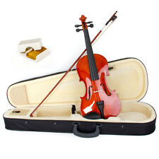 Vioin 4/4 Full Size Natural Acoustic Fiddle with Case Bow Rosin Wood Musical