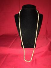 Vintage Single Strand Simulated Pearl Necklace 1950's - 1960's