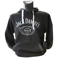 Bioworld Jack Daniels vecchio Nr. 7 Felpa cappuccio Nero Pullover Giacca con Hoo S