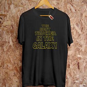 Meilleur Camionneur dans Le Galaxy Étoile Noël Guerres Cadeau Drôle T-Shirt