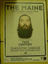The Maine + This Century - Glasgow sept.2012 tour concert gig poster