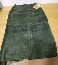 Women Fashion Bug Suede Olive Green Pencil Skirt size 18 plus New with tags