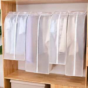Translucent PEVA Matte Non-woven Hanging Clothes Dust Cover Garment Storage Bag