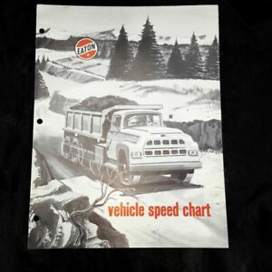 1960 Eaton Truck Axle Vehicle Speed Chart Pamphlet