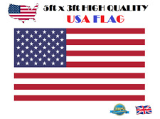 5ft x 3ft USA FLAG High Quality American Flag Independent Day 150cm x 90cm Flag