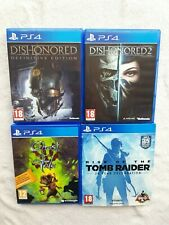 New listing Ghost of a Tale DISHONORED 1 2 RISE OF THE TOMB RAIDER Playstation 4 PS4 BUNDLE
