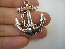 10 anchor pendant charm tibetan silver antique  wholesale jewellery making UN25