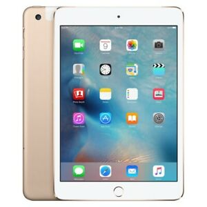 Apple iPad mini 3 64GB, Unlocked Wi-Fi + Cellular - Gold With FREE Case