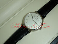 A.lange & Sohne Saxonia Thin 40mm Manual Wind 18Kt White Gold SilverDial 211.026