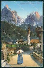 Bolzano Castelrotto Siusi allo Sciliar Costumi cartolina QT3150