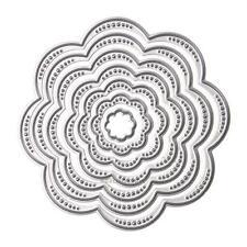 7Pcs/Set Flower Circles Metal Cutting Dies Stencils DIY Scrapbook Embossing Hot