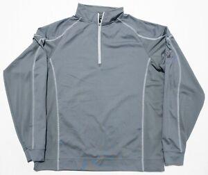 FootJoy Men's Medium Gray 1/4 Zip Nylon Wicking FJ Golf Lightweight Jacket