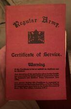 Regular army certificate of service to John Henry Tyler