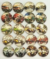 Vintage Czech Cab Round Glass Flatback x12 5 to 9mm CRAFT Colour Size Options