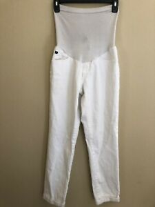 AG Adriano Goldschmied Pea In the Pod Maternity 29 Med M Crop White Denim Jeans