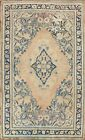 Antique Floral Traditional Oriental Medallion Area Rug Hand-knotted Wool 4x7 ft