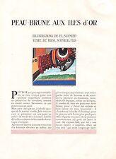 ▬► CLIPPING Peau-brune aux iles d'or E.L. Schmied Theo Schmied 12 pages