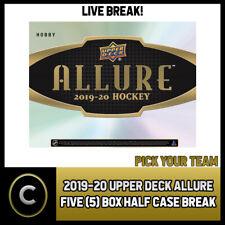 2019-20 UPPER DECK ALLURE хоккей 5 коробка (половина чехол) перерыв #H928 — выбирайте свою команду