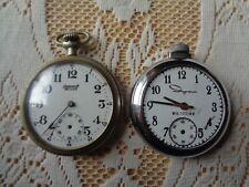 Watches Parts Repair As Is Ingersoll Reliance & Ingraham Biltmore Pocket
