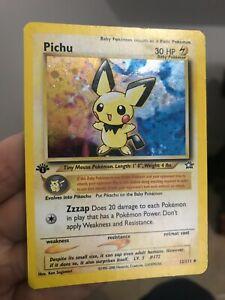 1st Edition Pichu 12/111 Neo Genesis Set Holo Rare Pokemon Card