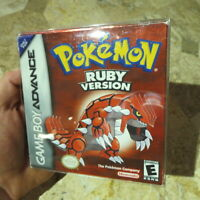 NO GAME✨POKEMON RUBY VERSION✨Gameboy Advance Complete GBA✨Authentic Box & Manual