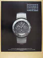 1986 Porsche Design Chronograph 02 Watch vintage print Ad