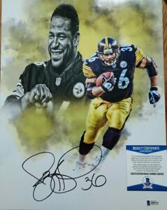 Jerome Bettie Pittsburgh Steelers Autographed 11x14 Photo Beckett Certifed