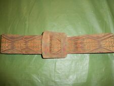 Vtg Alexis Ray Loren Native Canadian Motives Leather Wide Belt