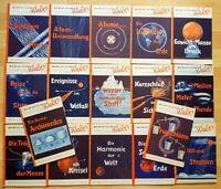 17x Was weißt Du von der Welt? Kinderbuch Schulbuch alt Naturwissenschaft 1947
