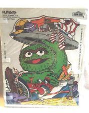 Vintage Playskook Sesame Street Wooden Die-Cut Puzzles Muppets Cookie Monster